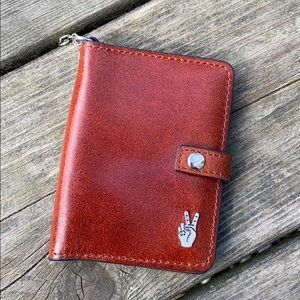 Accessories - Leather Peace Sign Mini Wallet